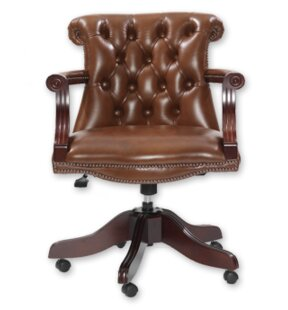 Carline Leather Executive Chair By Rosalind Wheeler