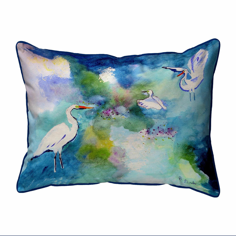 Highland Dunes Kanter Three Egrets Zippered Indoor Outdoor Lumbar Pillow Wayfair