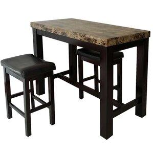 Earnshaw 3 Piece Pub Table Set by Alcott ..