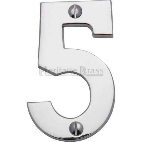Hausnummer Heritage Brass Farbe: Antikmessing| Nummer: 5 | Lampen > Aussenlampen > Hausnummern | Heritage Brass