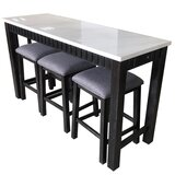 Achouhada 4 Piece Counter Height Dining Set by Gracie Oaks