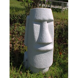 Farber Natural Granite Easter Island Head Statue By Bloomsbury Market