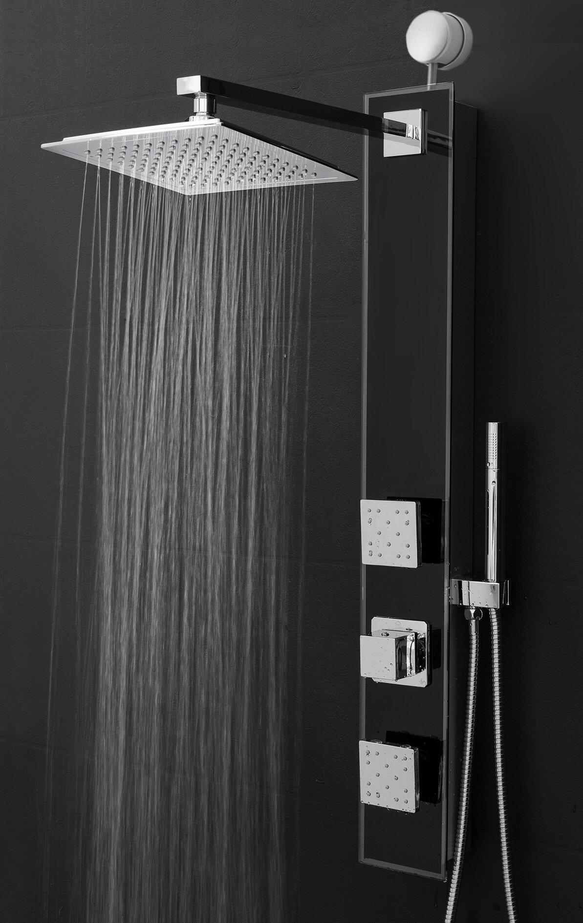 Akdy Diverter Rain Shower Head Shower Panel With Massage Function
