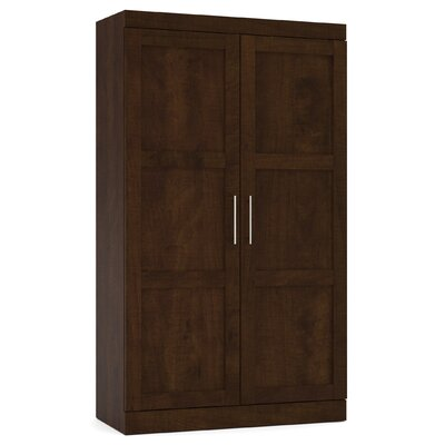 Beachcrest Home Navarro Wardrobe Armoire Color: Chocolate