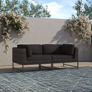 Consuelo 68'' Wide Wicker Loveseat with Cushions