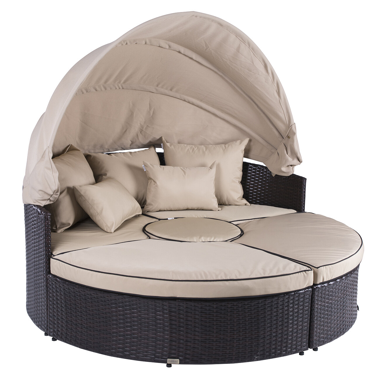 5 piece outdoor daybed set with cushions reviews allmodern