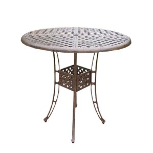 Thelma Cast Aluminum 42 Inch Bar Table by..