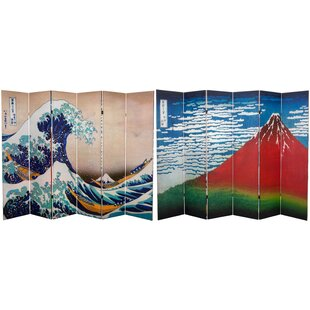 Best Saechao Hokusai 6 Panel Room Divider By Bloomsbury Market