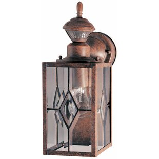 Find for Glenbrook Metal Outdoor Wall Lantern with Motion Sensor By World Menagerie