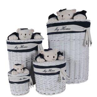Bear Oval 4 Piece Wicker/Rattan Basket Set ByHarriet Bee