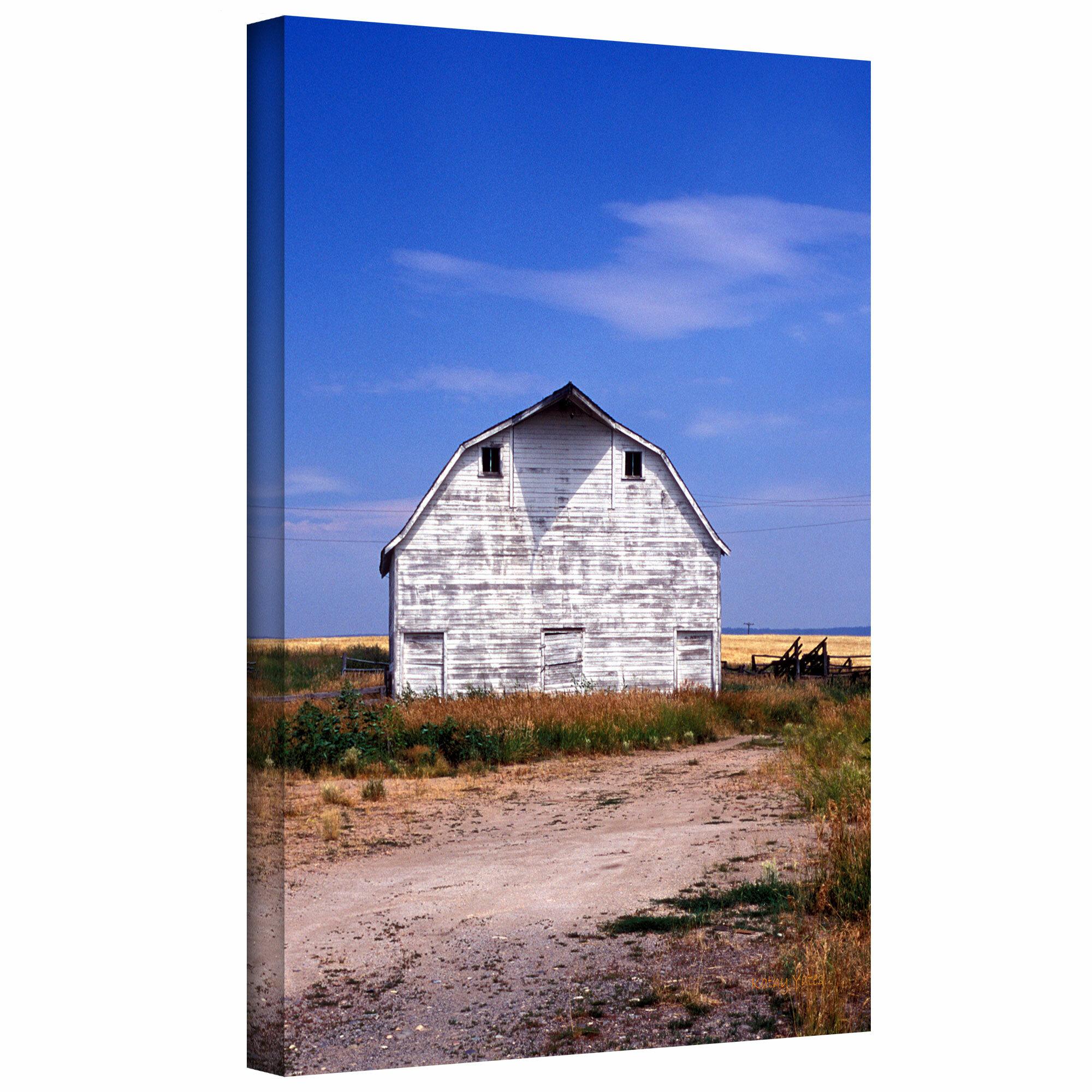Artwall Old White Barn Photographic Print On Canvas Wayfair