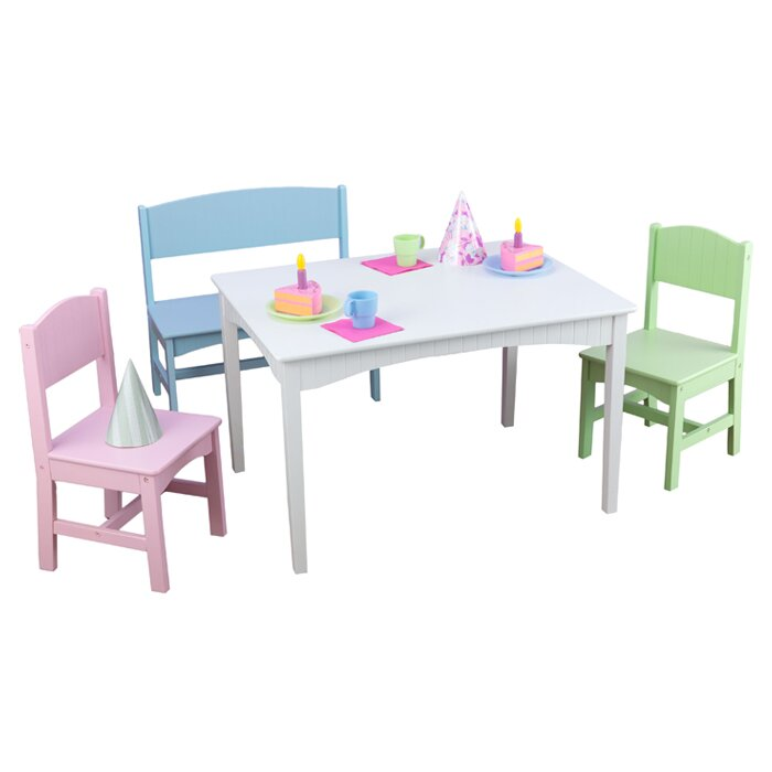 4 Piece Table Set Part - 48: Nantucket Kids 4 Piece Table And Chair Set
