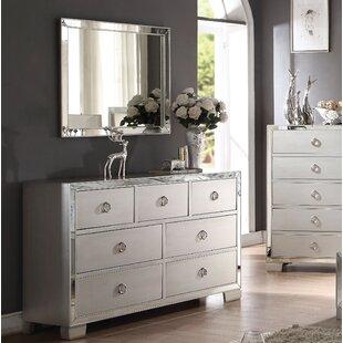 Isai 7 Drawer Double Dresser with Mirror ByRosdorf Park