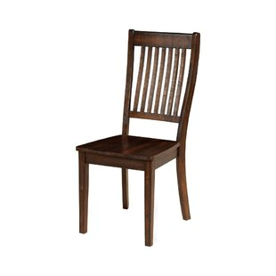 Bartels Slatted Back Solid Wood Dining Chair (Set of 2) Charlton Home