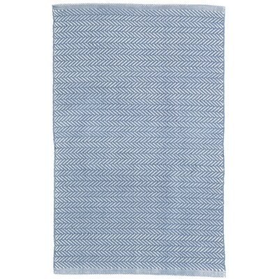 Fair Isle French Hand-Woven Cotton Blue/Ivory Area Rug & Reviews ...