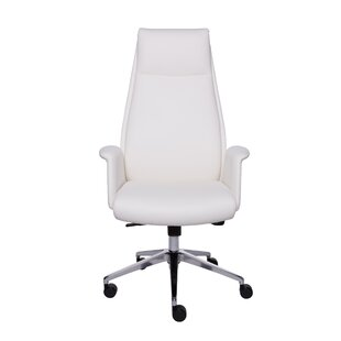Brayden Studio Prichard High-Back Leather Executive Chair