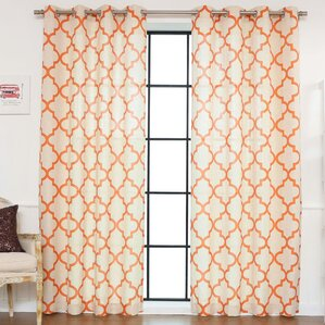 Great Lakewood Moroccan Tile Curtain Panels (Set Of 2)