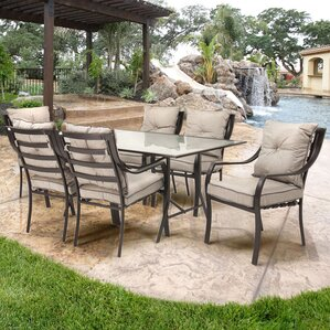 Exceptional Sweetman 7 Piece Outdoor Dining Set With Cushion