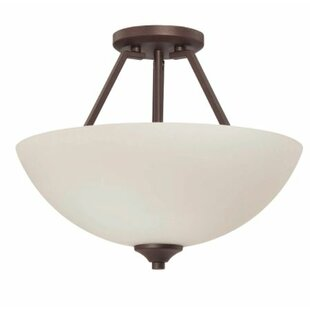 Winston Porter Wortham 2-Light Semi Flush Mount
