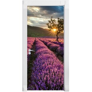 Wonderful Lavender Provence With A Lonely Tree Door Sticker By East Urban Home
