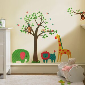 Jungle Safari Wall Decals Youll Love Wayfair - Wall decals animalsafrican savannah wall sticker decoration great trees with