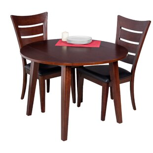 Caroline 3 Piece Solid Wood Dining Set by TTP Furnish