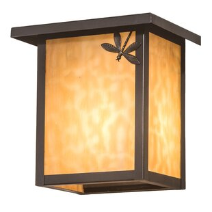 Millwood Pines Evanoff Dragonfly Right Outdoor Wall Lantern