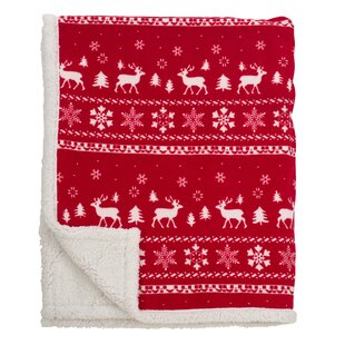 Sevan Design Christmas Sherpa Reversible Throw