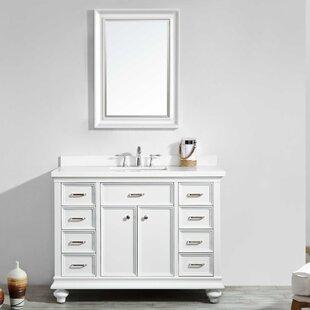 Weisner 48 Single Bathroom Vanity Set with Mirror By Alcott Hill