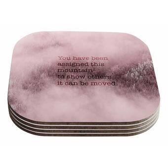 Kess InHouse Suzanne Carter Kind-Pink White Typography Table Runner