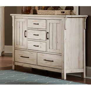 Yuliana Wooden 5 Drawer Double Dresser