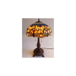 Delroy Dragonfly Tiffany 24 Table Lamp