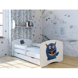 Blue Monster Wink Bed With Mattress And Drawer By Zoomie Kids