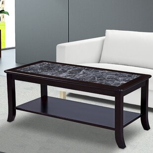 Fenske Marble Top Coffee Table by Winston Porter