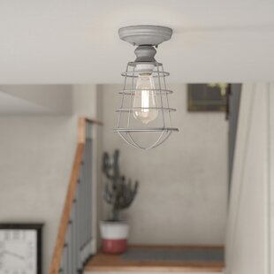 Leda 1-Light Semi Flush Mount by Trent Austin Design