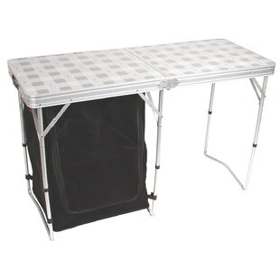 Cupboard Folding Silver Camping Table
