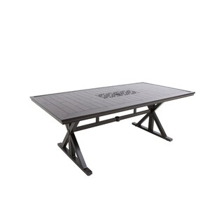 Bungalow Rectangular Aluminum Dining Table