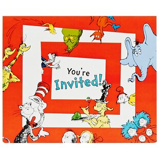 Dr. Seuss Paper Disposable Invitations (Set of 8)