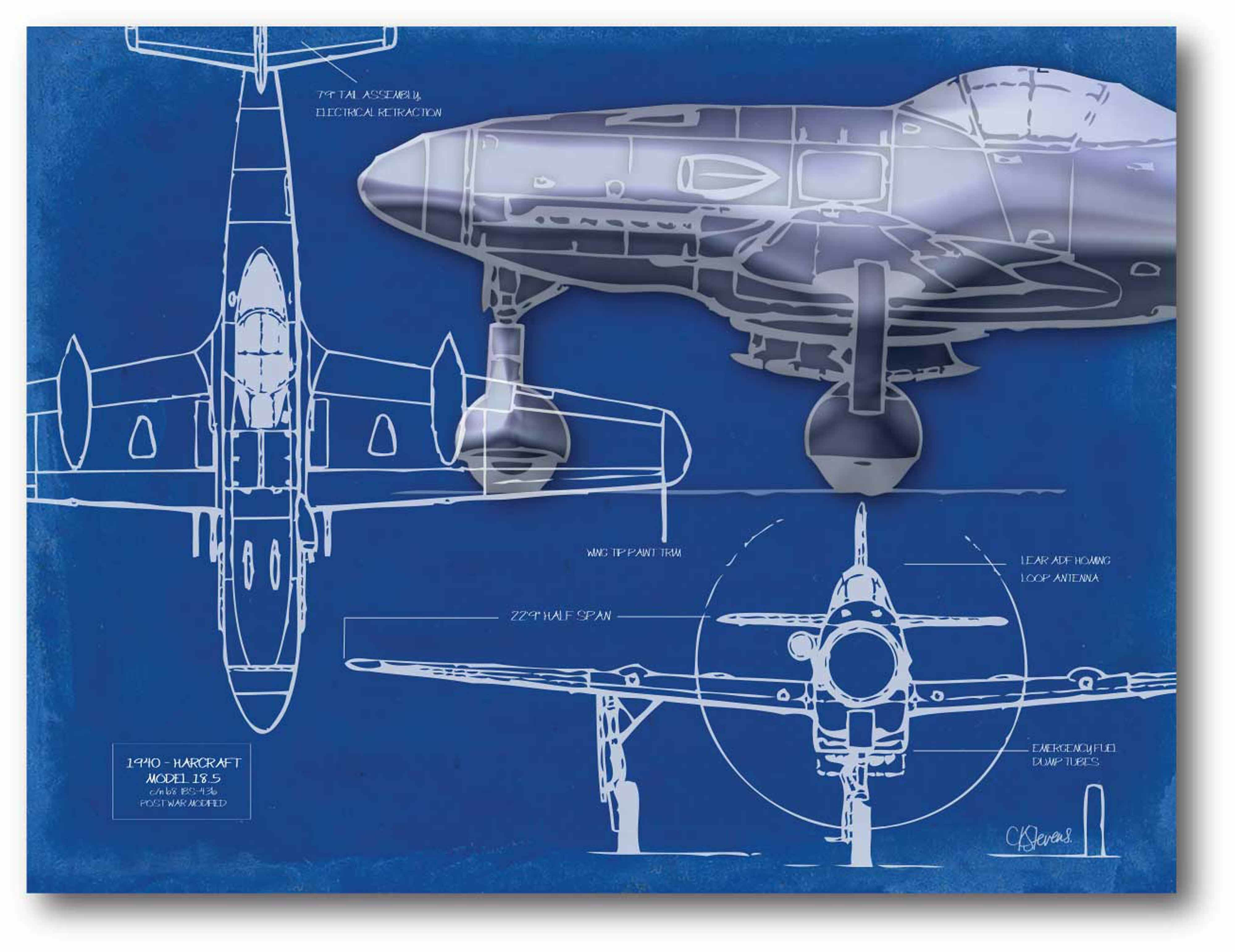 Williston forge airplane blueprint 2 graphic art print on williston forge airplane blueprint 2 graphic art print on stretched canvas wayfair malvernweather Images