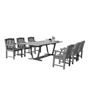 Densmore Outdoor 7 Piece Dining Set