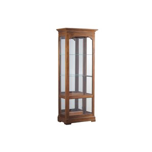 Canola Lighted Curio Cabinet by Loon Peak
