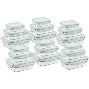 Rectangular 18 Container Food Storage Set