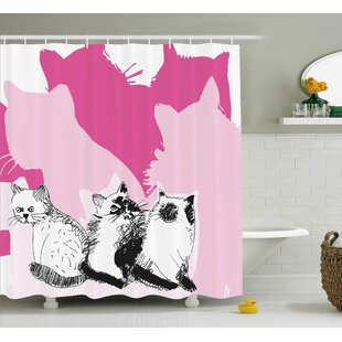 Kittens Single Shower Curtain