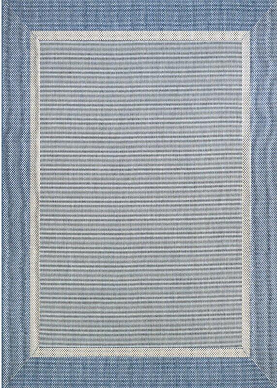 Beachcrest Home Linden Texture Blue/Gray Indoor/Outdoor Area Rug ...