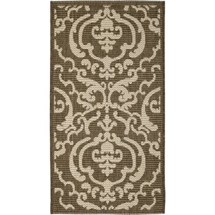 Short Chocolate/Natural Indoor/Outdoor Area Rug