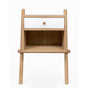 Tsakig 1 Drawer Bedside Table By Ebern Designs