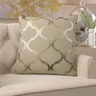 Clairsville Woven Foil Throw Pillow