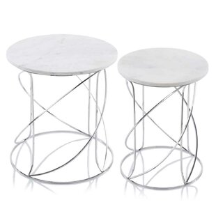 Fleta Marble 2 Piece Nesting Tables