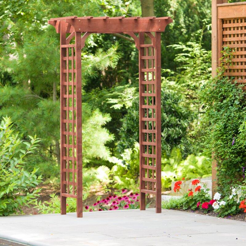 Leisure Season Garden Wood Arbor & Reviews | Wayfair