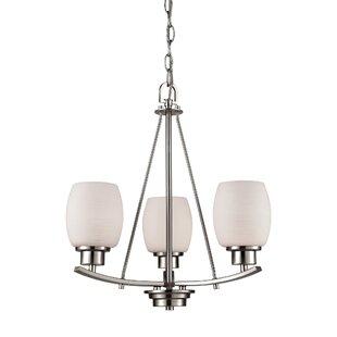 Ebern Designs Adalyn 3-Light Shaded Chandelier